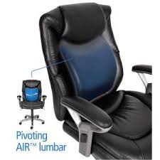 Serta Memory Foam Managers Chair by Serta Wellness By Design Black Bonded Leather Mid Back Office