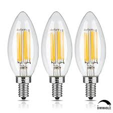 crlight 6w dimmable led filament candle light bulb 2700k warm