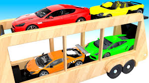 Car Parking In Truck For Children To Learn Colors | Trucks And Cars ...