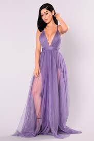 the runway maxi dress purple