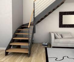 escalier quart tournant structure en bois structure en métal