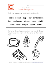 Words that start with the letter C kindergarten