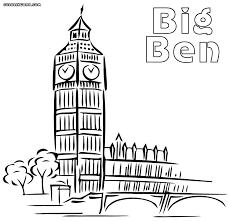 Pin Big Ben Clipart Coloring 1