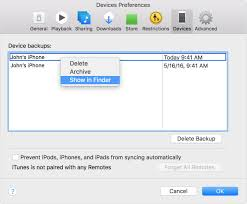 Locate backups of your iPhone iPad and iPod touch Apple Support