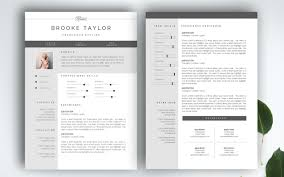 3 Page CV Template Business Card