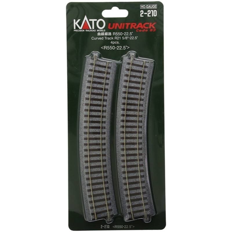 Kato 2-210 Unitrack Curved Track - 2 Pieces