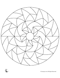 Simple Geometric Designs Coloring Pages Images Pictures