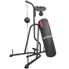 Boxing Heavy Bag Ceiling Mount by Titan Fitness Boxing Stand Floor To Ceiling Bag Speed Bag 88lb