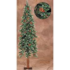 Sterling 6 Pre Lit Frosted Alpine Artificial Christmas Tree W Pine Cones