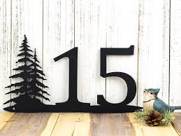 Custom Made Rustic House Number