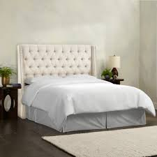 Skyline Button Tufted Headboard by Nail Button Tufted Wingback Headboard 139 Enchanting Ideas With