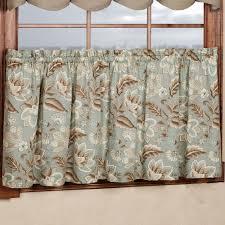 Jacobean Floral Design Curtains by Valerie Jacobean Floral Tier Window Treatment