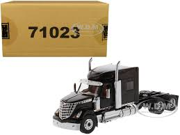 100 Pickup Truck Sleeper Cab International LoneStar Tractor Black 150 Diecast Model By Diecast Masters