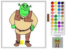 Shrek Coloring Pages Online Game