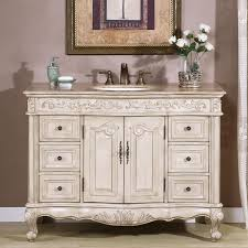 48 Inch White Bathroom Vanity Without Top by Shop Silkroad Exclusive Ella Antique White Undermount Single Sink