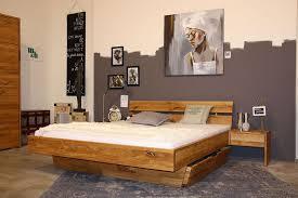 massivholz schlafzimmer 2tlg 160x200 wildeiche massiv geölt