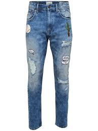 carrot patch blue slim fit jeans only u0026 sons