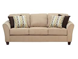 slumberland chatham collection tan sofa living room design