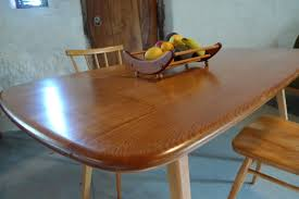 Beautiful Rounded Edges To This Ercol Elm Plank Dining Table Model 382 For Sale Through Website Retrokate