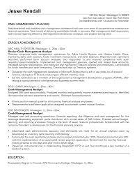 Treasury Business Analyst Resume Treasury Analyst Resume Sample One