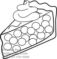 Clip Art Illustration of a Piece of Cherry Pie Coloring Page