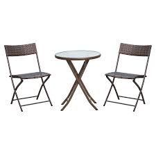 Outsunny 3pc Wicker Rattan Bistro Set-Brown — MH Star Pub Tables Bistro Sets Table Asuntpublicos Tall Patio Chairs Swivel Strathmere Allure Bar Height Set Balcony Fniture Chair For Sale Outdoor Garden Mainstays Wentworth 3 Piece High Seats Www Alcott Hill Zaina With Cushions Reviews Wayfair Shop Berry Pointe Black Alinum And Fabric Free Home Depot Clearance Sand 4 Seasons Valentine Back At John Belden Park 3pc Walmartcom