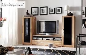 wohnwand wohnregal tv wand hifi lowboard kernbuche massiv geölt wohnzimmer lanatura