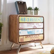 finebuy sideboard kaia 85x88x38 cm landhaus stil sheesham