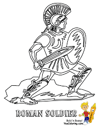 Bible Coloring Roman Soldier At YesColoring