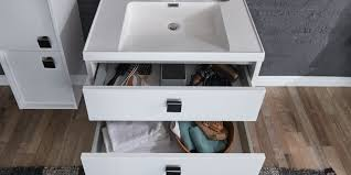 bad set mit waschbecken 80 cm weiß hochglanz mona