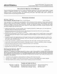 Manager Resume Sample For Information