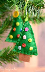 Felt Christmas Tree Ornament Craft For Kids To Make