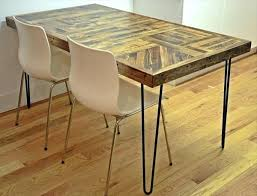 Pallet Kitchen Table Dining Wood With Steel Legs Furniture
