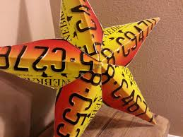 How To Make A Star Out Of Old License Plates - Google Search ... Custom Star Light Fixture 36 Inch Metal Sign Barn Wood By West 26 Welcome Barn Star Metal Wall Art Western Home Decor Bronze Amazoncom 1 X Rustic Dimensional Brown Wall Decor Good Look Stars Amish Large Metal Barn Stars The Hoarde 31 44 50 With Multiple Stars Amish Made Crafts Tin Star Salvaged Antique Window Frame With Texas Old Wood