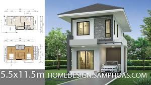104 Housedesign Small House Design Plans 5 5x11 5m With 2 Bedrooms Home Ideas