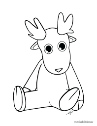 Reindeer Coloring Pages Christmas Printable Santa Rudolph The Red