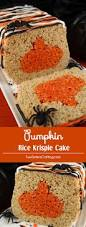 Rice Krispie Halloween Treats Candy Corn by Pumpkin Rice Krispie Cake Two Sisters Crafting