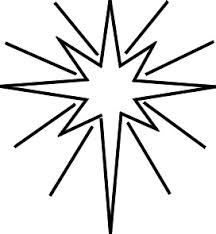 Christmas Star Coloring Page For Kids Ornament Children Yellow Decorated On