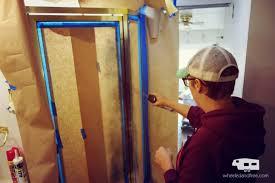 Rv Remodel Spray Painting Shower