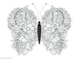 Free Printable Coloring Sheets Butterflies Butterfly 4 Pages Flowers And