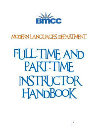 Bmcc Help Desk Contact by Faculty Handbook Mld Bmcc Def By Modern Languages Department