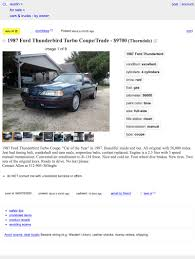 100 Craigslist Austin Texas Cars And Trucks By Owner Would You Blow 9700 On This 1987 Ford Thunderbird Turbo Coupe