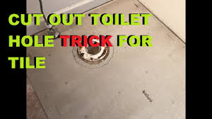 how to cut around a toilet with backer board install tile
