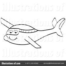 Royalty Free RF Plane Clipart Illustration by Andrei Marincas
