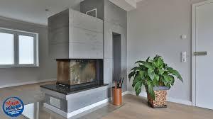 wohnzimmer redesign betonoptik glatte decke glatte wände