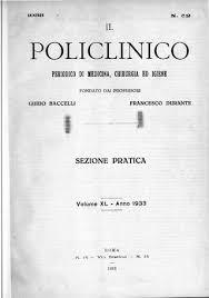 Il Policlinico Sezione Pratica Anno 1933 Ocr Parte1 By Accademia Di