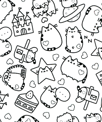 Pusheen Coloring Book Therapy