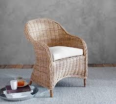 Pottery Barn Aaron Chair Espresso by Santa Ana Rattan Armchair Pottery Barn Dining Room Pinterest