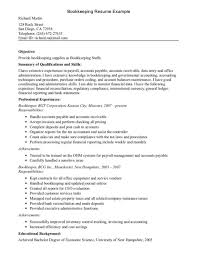 Bookkeeping Resume Sample Templates Wondrous Bookkeeper Cover Letter Examples Quickbooks Experience Pdf Exam Large Size