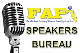 speaker bureau florida association of investigators speakers bureau